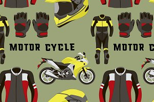 motorcycle accessories pattern