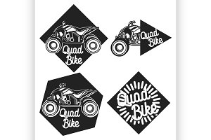 Vintage quad bike emblems