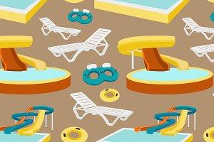 Water amusement park pattern