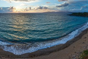 Mytikas Beach sunset view (Greece)