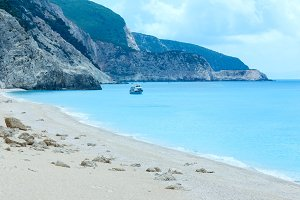Egremni beach summer view (Greece)