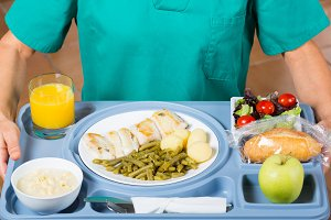 Meal tray of a hospital
