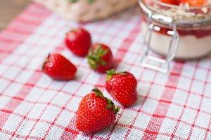Sweet ripe strawberries