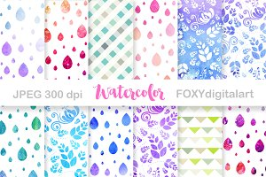 Watercolor Floral Digital Paper