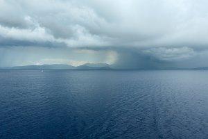 Sea view with stormy sky (Greece)