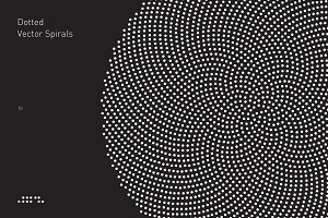 10 Dotted Vector Spirals