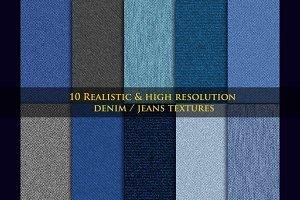 10 Realistic Denim / Jeans Textures
