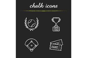 Baseball. 4 icons. Vector
