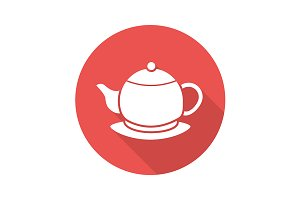 Teapot icon. Vector