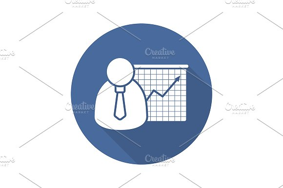 Business presentation icon. Vector - Icons
