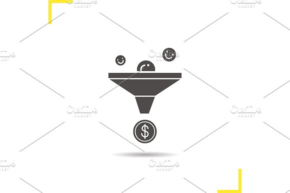 Sales funnel icon. Vector - Icons