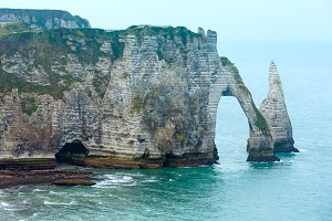 Natural cliff in Etretat, France