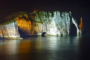 Natural cliff in Etretat, France