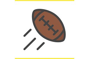 American football ball icon. Vector