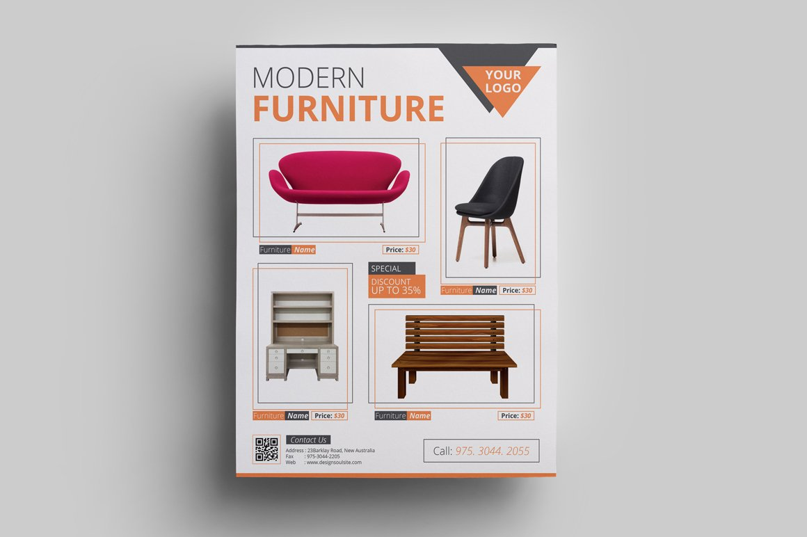 Furniture sale flyer flyer templates creative market