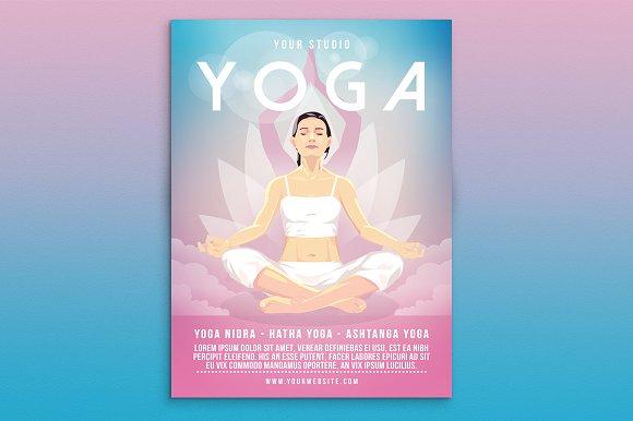 Yoga Flyer Poster Flyer Templates on Creative Market – Yoga Flyer