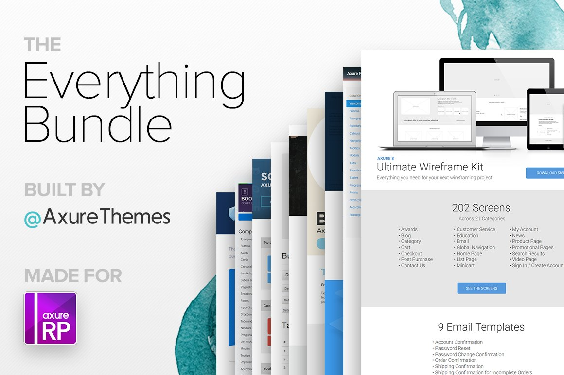 The Everything Bundle - Axure RP ~ Website Templates ~ Creative Market