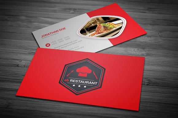 Business card for restaurant arts arts restaurant business card templates creative market colourmoves