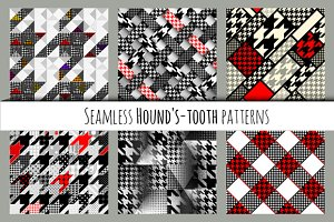 Seamless hound's-tooth patterns