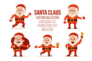 Set of 5 Santa Claus