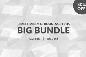 Simple Minimal Business Cards Bundle