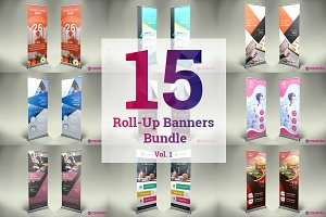 15 Roll-Up Banners Bundle vol.1