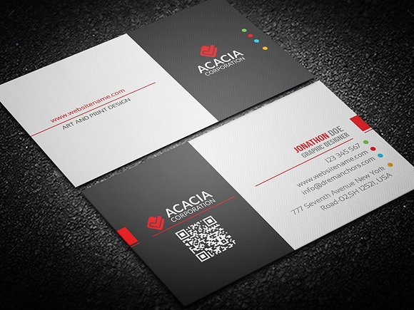 Round Business Card Business Card Templates Creative Market - Round business card template