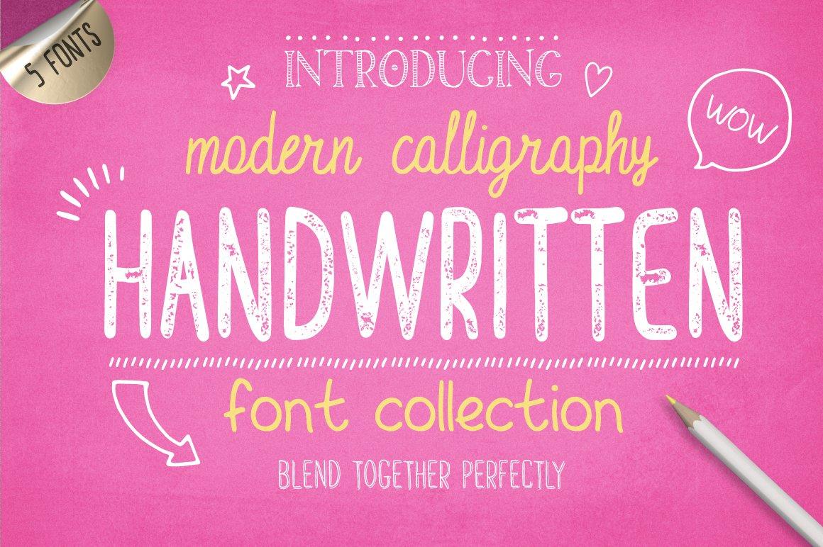 Handwritten Font Collection ~ Display Fonts ~ Creative Market