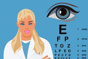 eye chart, ophthalmologist