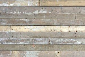 Used wood scaffolding planks