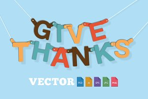 Give Thanks Type Banner