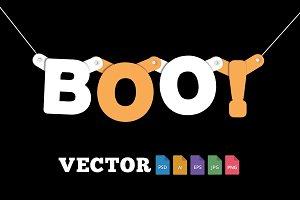 Boo Halloween Type Banner
