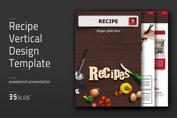recipe vertical design template presentation templates creative