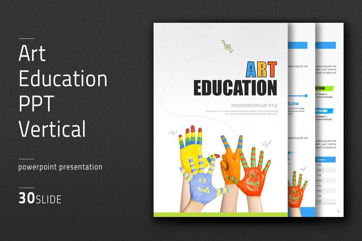 art education ppt vertical presentation templates creative market