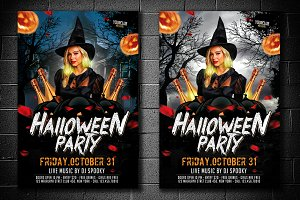 Halloween Party Flyer 2 Version