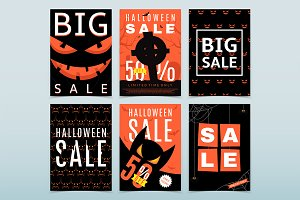 12 posters for Halloween sale
