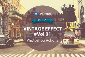 Vintage Effect Photoshop Action V01