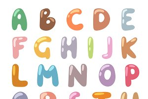 Cartoon Alphabet symbols vector