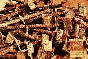 Rusty scrap metal
