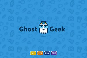 Ghost Geek Logo Template