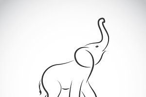 Vector of an elephant design.