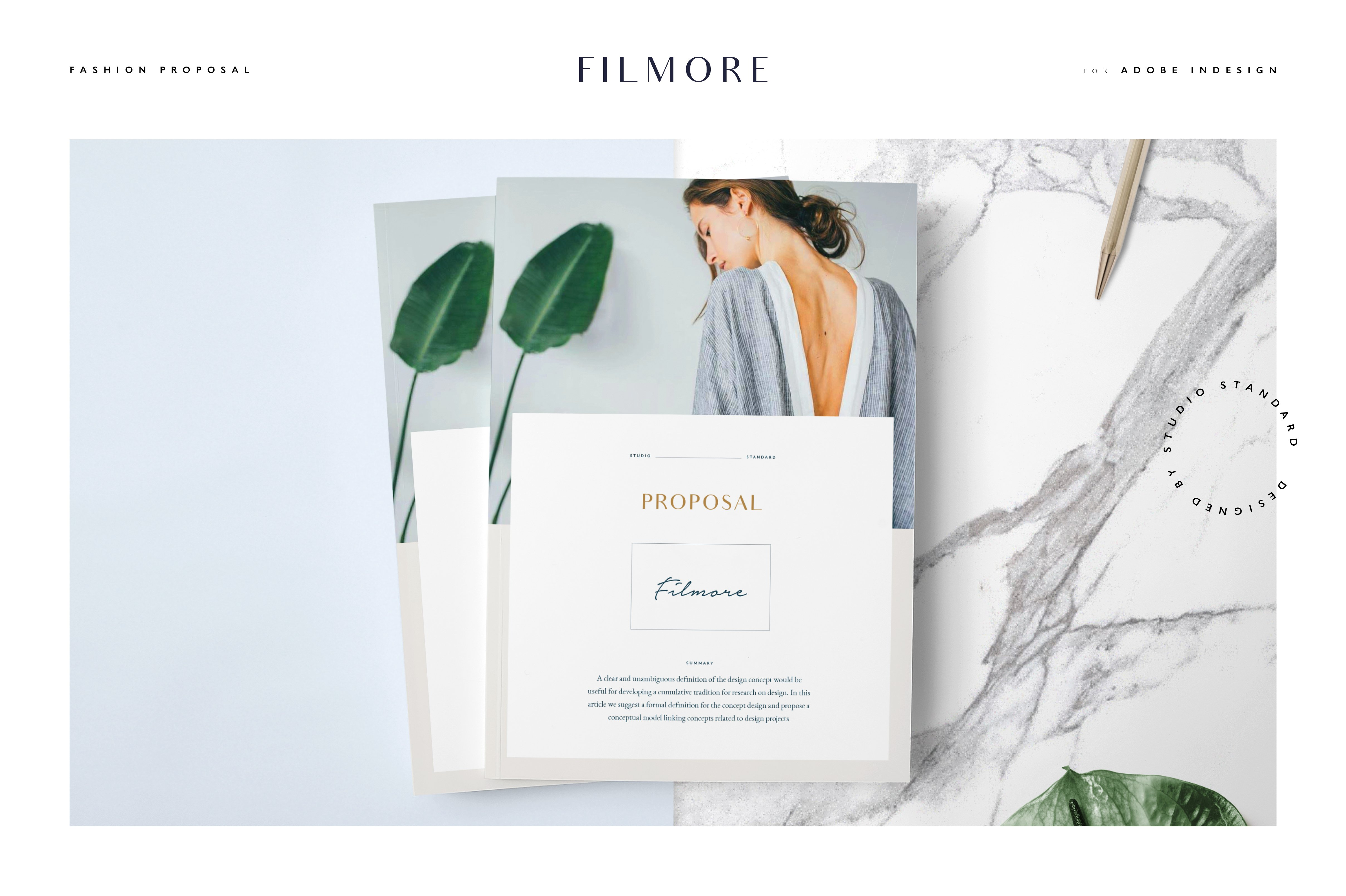 fashion brochure templates - filmore fashion proposal brochure templates creative