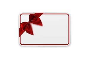 Blank gift card template.