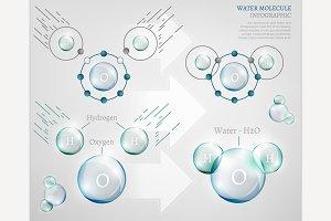 Water Molecule Infographic