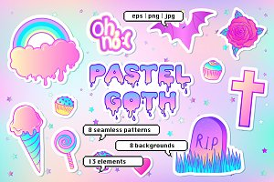 PASTEL GOTH, patches & patterns