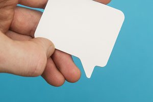 Blank speech bubble