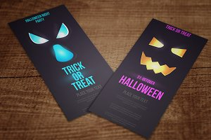 Halloween designed Vertical Banners