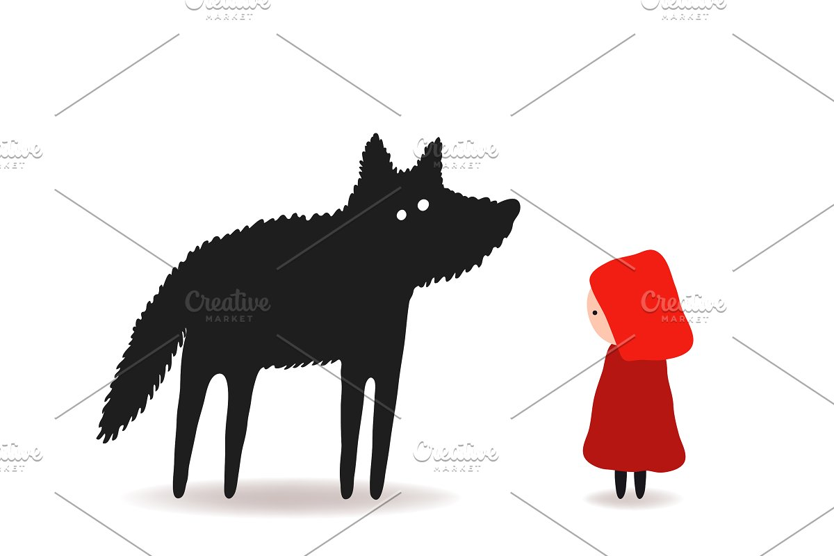 Little Red Riding Hood And The Wolf Custom Designed
