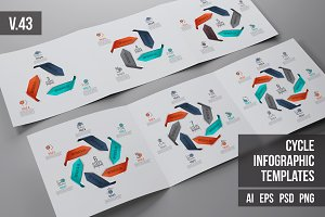 Infographics template set v.43