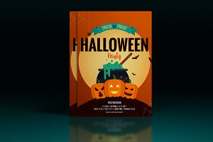 Two Halloween posters- Flat design